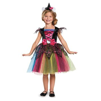 Girls Deluxe Hello Kitty Witch Costume, Sanrio