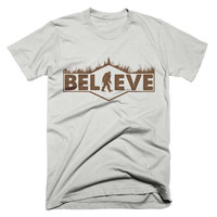 Bigfoot Believe T Shirt Sasquatch Camping Funny Vintage T Shirt