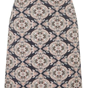 Blue and Pink Jacquard Mini Skirt | Dorothyperkins