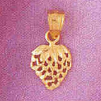 14K GOLD FRUIT CHARM - STRAWBERRY #6868