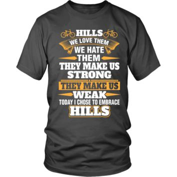 Hills We Love Them Cycling Tee