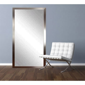 "Brandt Works Embossed Steel Floor Mirror BM026TS 30.5""x64.5"""