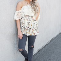 Belles And Beauty Lace Top (Ivory)