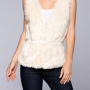 Winter Wonderland Faux Fur Vest