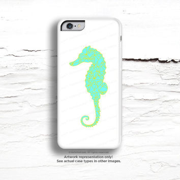 iPhone 6 Case, iPhone 5C Case Teal Seahorse, iPhone 5s Case Seahorse, Mint iPhone 6 Plus Case, iPhone 5C Case, White Shore iPhone Case C27