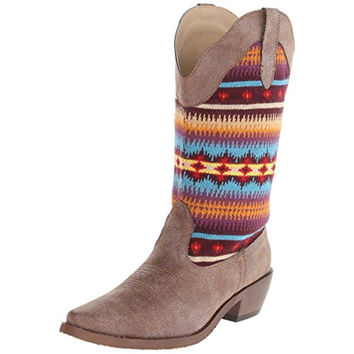 Roper Womens Southwest Pattern Rodeo Cowboy, Western Boots