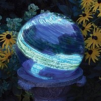 Echo Valley 8440 Illuminarie Globe Glows In The Dark, Blue