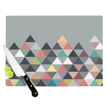 "Mareike Boehmer ""Nordic Combination"" Gray Abstract Cutting Board - Outlet Item"