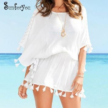 Beach Cover up Tunic for Beach Swimsuit Cover up Vestidos de Playa Swim Cover up Pareo Beach 2018 Bathing suit Cover ups