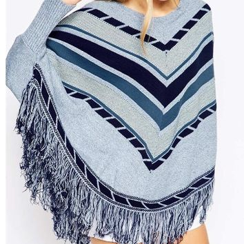 knitted cloak sweater for women