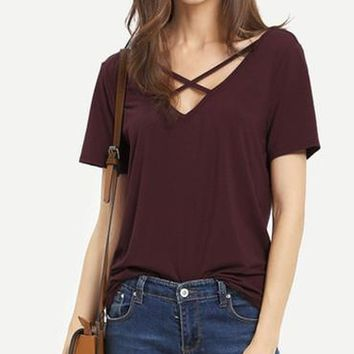 Ronnie X Front Burgundy Tee