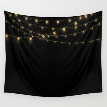 Gold rich Glitter Chain- Treasure Sparkle Wall Tapestry by Better HOME