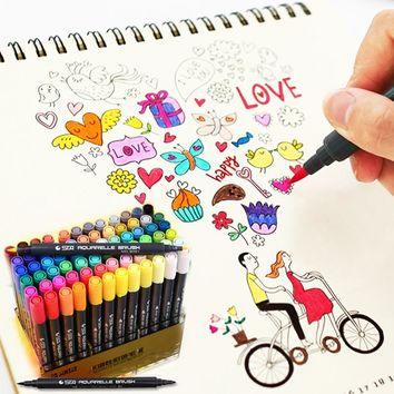 24 36 48 80 Color STA Marker Pen Set Double Headed Sketch Paint Water Brush Copic Art Finecolour Marker Pens Drawing Supplies