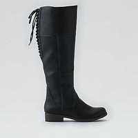 AEO Lace-Up Back Boot , Black