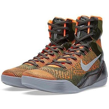 Nike Kobe Ix 9 Elite 'strategy' 630847 303 Sequoia/green/silver Men's Basketball Shoes