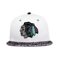Chicago Blackhawks White, Purple, Teal, Cement SNAPBACK 9fifty New Era