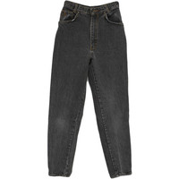 Vintage 90s Pants: 90s -Gitano Express- Womens faded black cotton denim wicked 90s jeans pants. Tapered legs with zippers at the hems, zippered front closure, two front inset pockets and two back patch pockets with standard size belt loops. Fade on front,