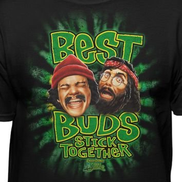 Cheech & Chong Up In Smoke Best Buds Stick Together Official Licensed T-Shirt