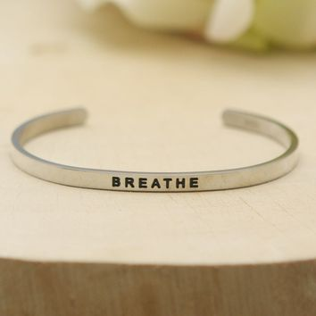 Mindful Cuff Bracelet, Breathe