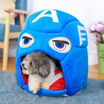 Captain America Foldable Dog Bed