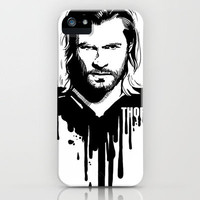 Avengers in Ink: Thor iPhone Case by Rebecca Loomis | Society6