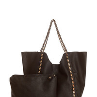 Double Chain Tote Bag & Tote - Black