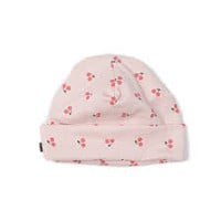 Organic Cherries Print Baby Hat