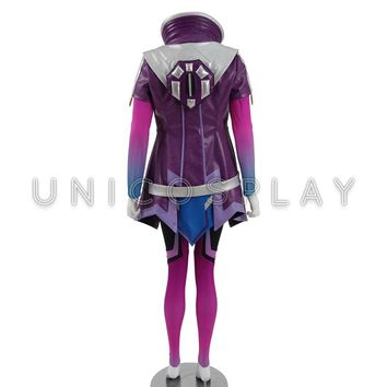 Sombra Cosplay Costume Woman Battle Halloween Outfit Jacket Jumpsuits