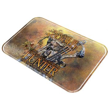 Always Be Yourself Unless Bow Hunter All Over Glass Cutting Board