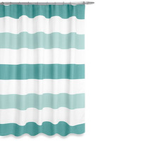 Boca Shower Curtain in Aqua