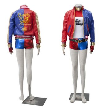 harley quinn jacket suicide squad for adults cosplay costume set suicidal arkham asylum halloween costumes women plus size sexy