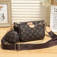 Women Fashion Leather Clutch Bag Crossbody Satchel Set Three Piece