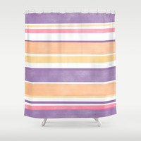 Between The Purple Lines Shower Curtain by sm0w