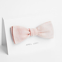 Light pink bow tie, peach bow tie - double sided