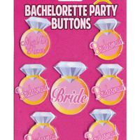 Bachelorette Party Buttons - Pack Of 7