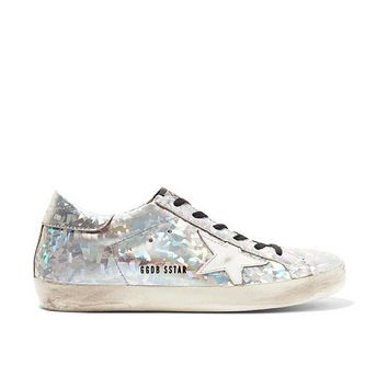 GOLDEN GOOSE DELUXE BRAND Super Star Hologram Silver