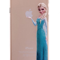 Elsa Transparent Back Cover Case for iPhone 6 Plus