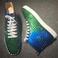 PEAPNW6 Cl Christian Louboutin Louis Spikes Style #1855 Sneakers Fashion Shoes