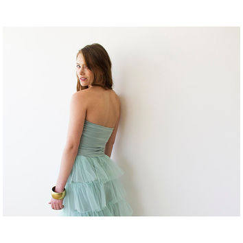 Ballerina Strapless Mint Stretchy top