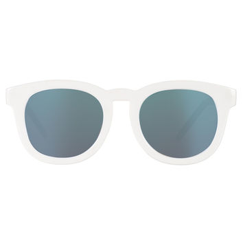 Quay Breakfast Club Shades- White/Blue