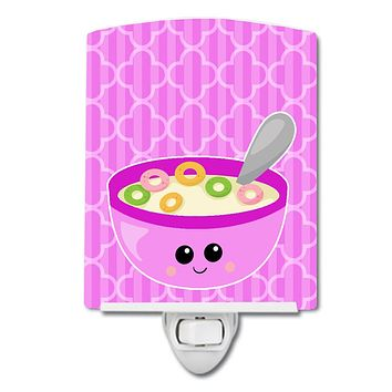 Pink Bowl of Cereal Ceramic Night Light BB7163CNL