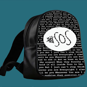 5SOS Quote Black Design Wherever You Are for Backpack / Custom Bag / School Bag / Children Bag / Custom School Bag *