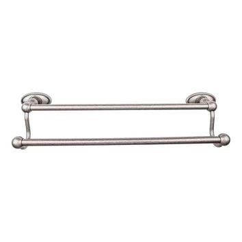 Top Knobs Edwardian Bath 18 in Double Towel Bar with Oval Backplate