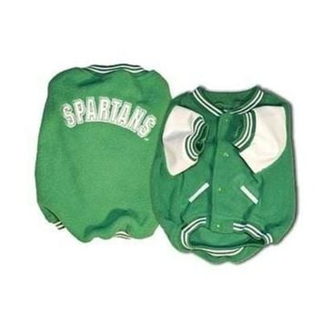 qiyif Michigan State Varsity Dog Jacket