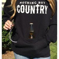 Nothing But Country Tailgate Hoodie - Black