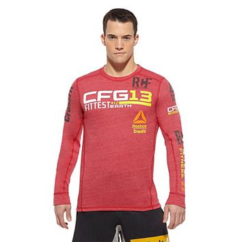 Reebok Men's Reebok CrossFit Fittest on Earth Top Long Sleeve Tops | Official Reebok Store