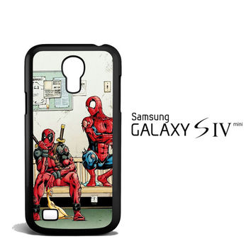 Funny Spiderman and Deadpool Samsung Galaxy S4 Mini Case