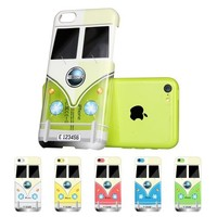 iPhone 5C Case, ESR Fancy Series Hard Clear Back Cover with Cute Patterns Snap on Case for iPhone 5C Case Upgraded Version with Better Protection(Mini Bus)