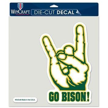 "Licensed North Dakota State Bison NCAA 7"" x 7"" Die Cut Car Decal NDS Wincraft 976734 KO_19_1"