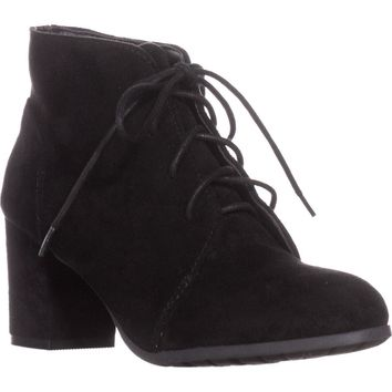 madden girl Torch Lace-Up Ankle Boots, Black, 8 US
